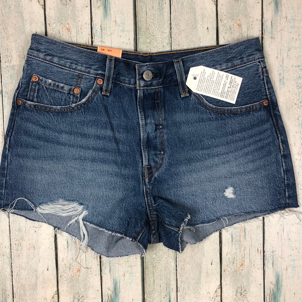 NWT - Levis 501 Denim Shorts - Size 28