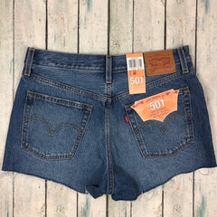 Levis 501 Denim Shorts - Size 28