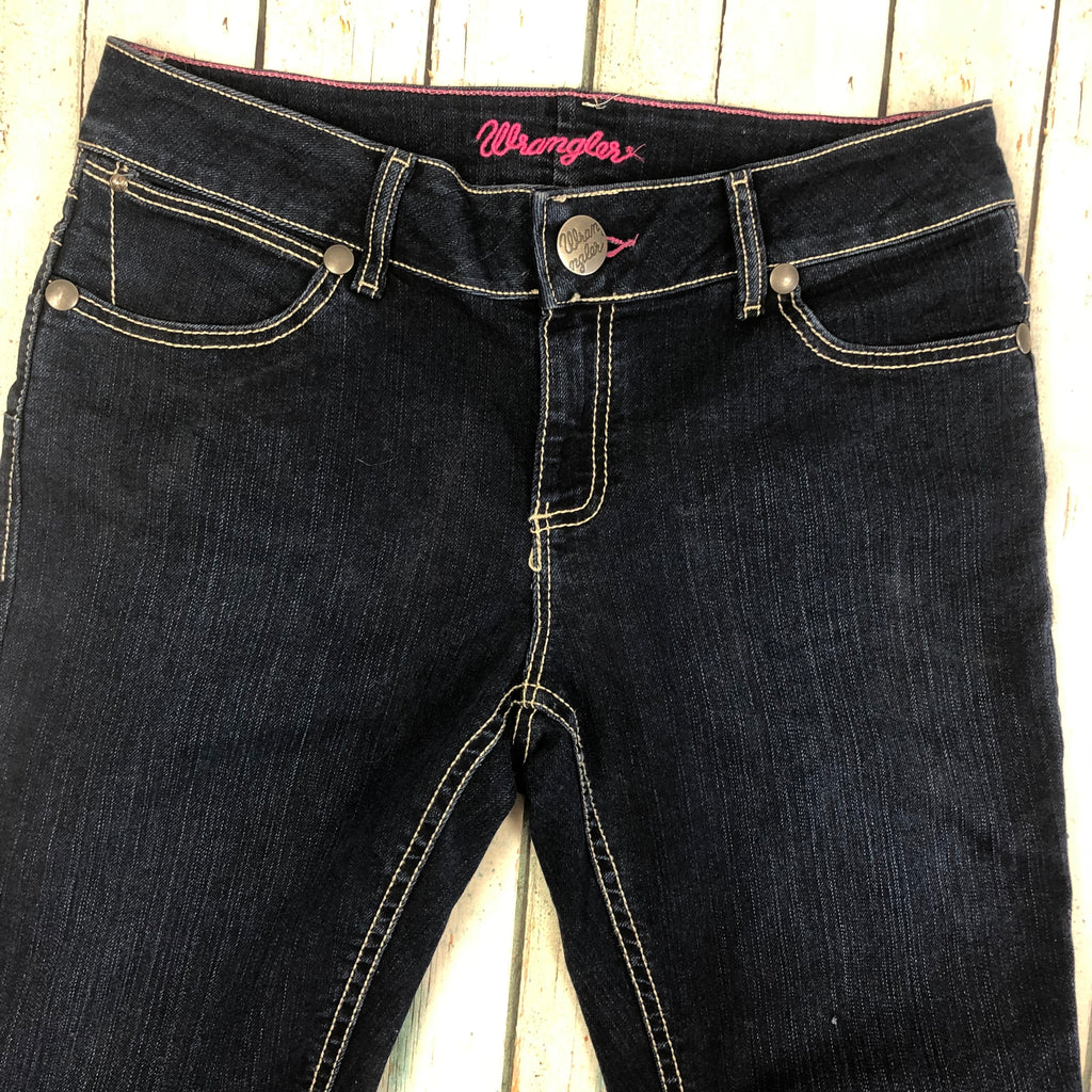Wrangler USA Straight Leg Stretch Jeans -Size 12