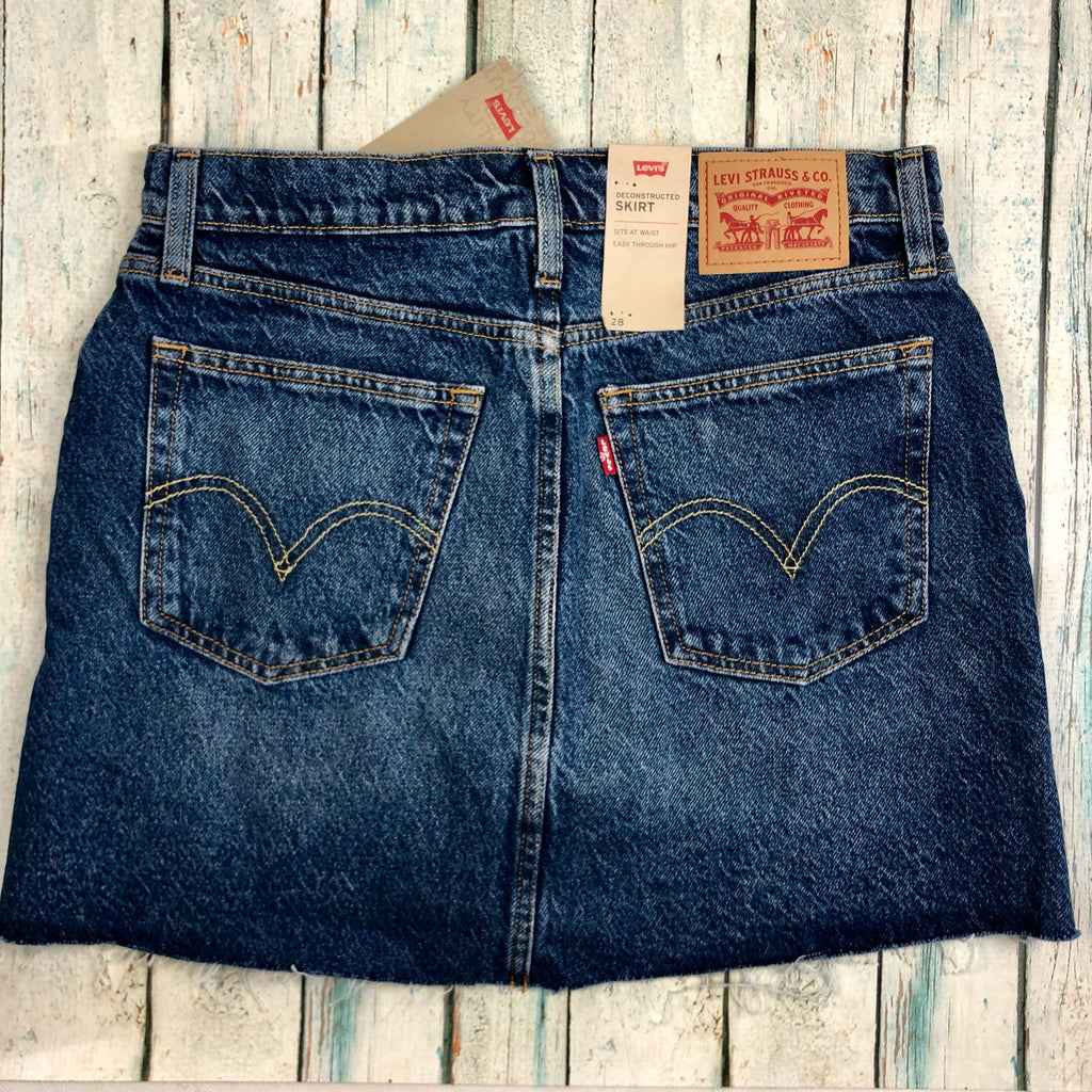 Levis Deconstructed Denim Skirt - Size 30