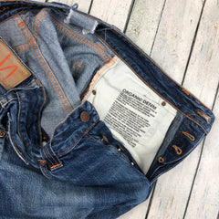 Nudie Jeans Co. 'Easy Emil' Dry Navy Organic Cotton Jeans - Size 32/32