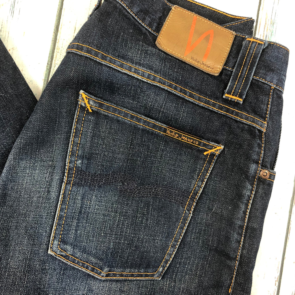 Nudie Jeans Co. 'Straight Alf' Org. Contrast Indigo Wash Organic Jeans - Size 29/32