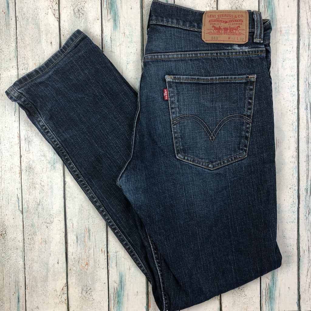 Levis Slim Straight 511 Men's Denim Jeans - Size 34/32