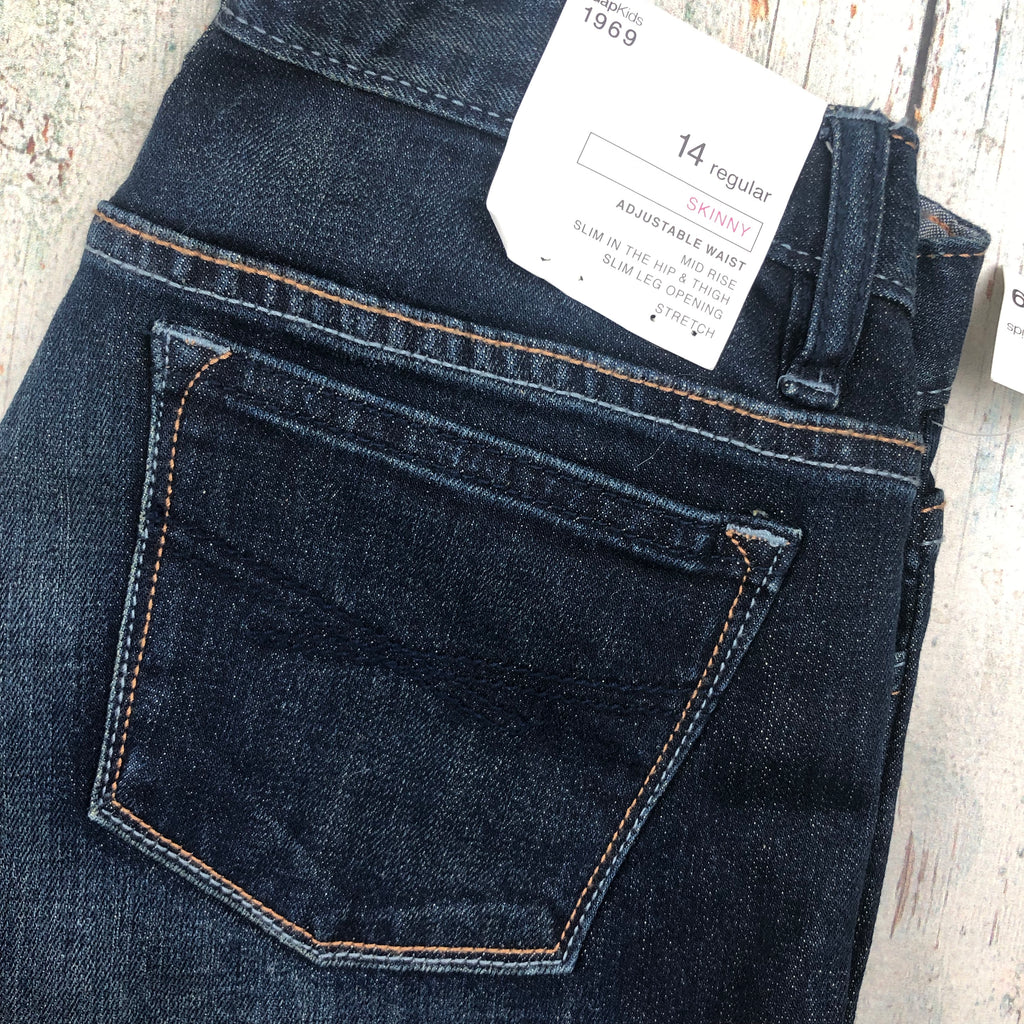 NWT - Gap Crop and Roll Girls Skinny Jeans - Size 14