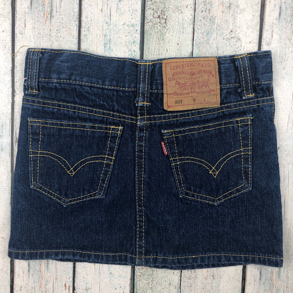 Levis Girls Denim Mini Skirt- Size 4