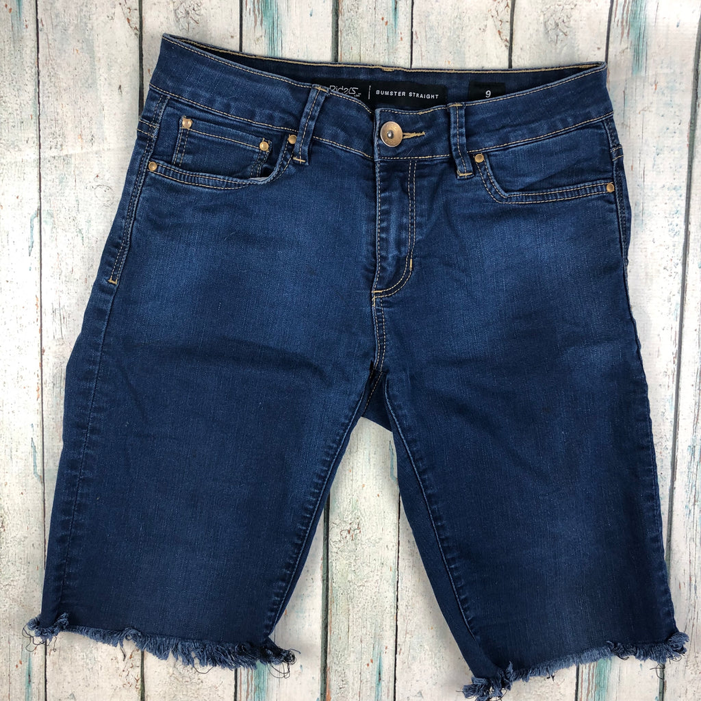 Lee Bumster Straight Upcycled Denim cut off Shorts - Size 9