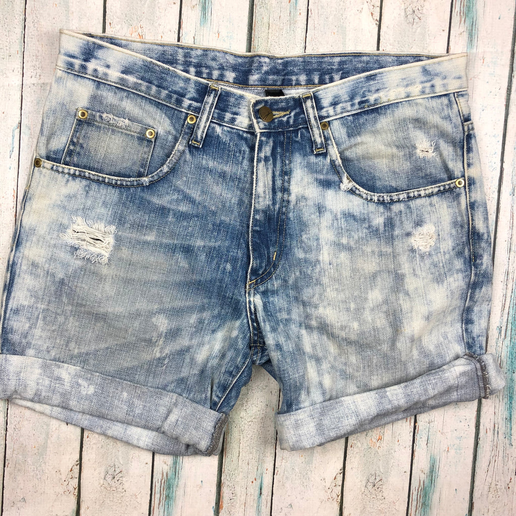 Nobody turn up cuff Denim Shorts - Size 28