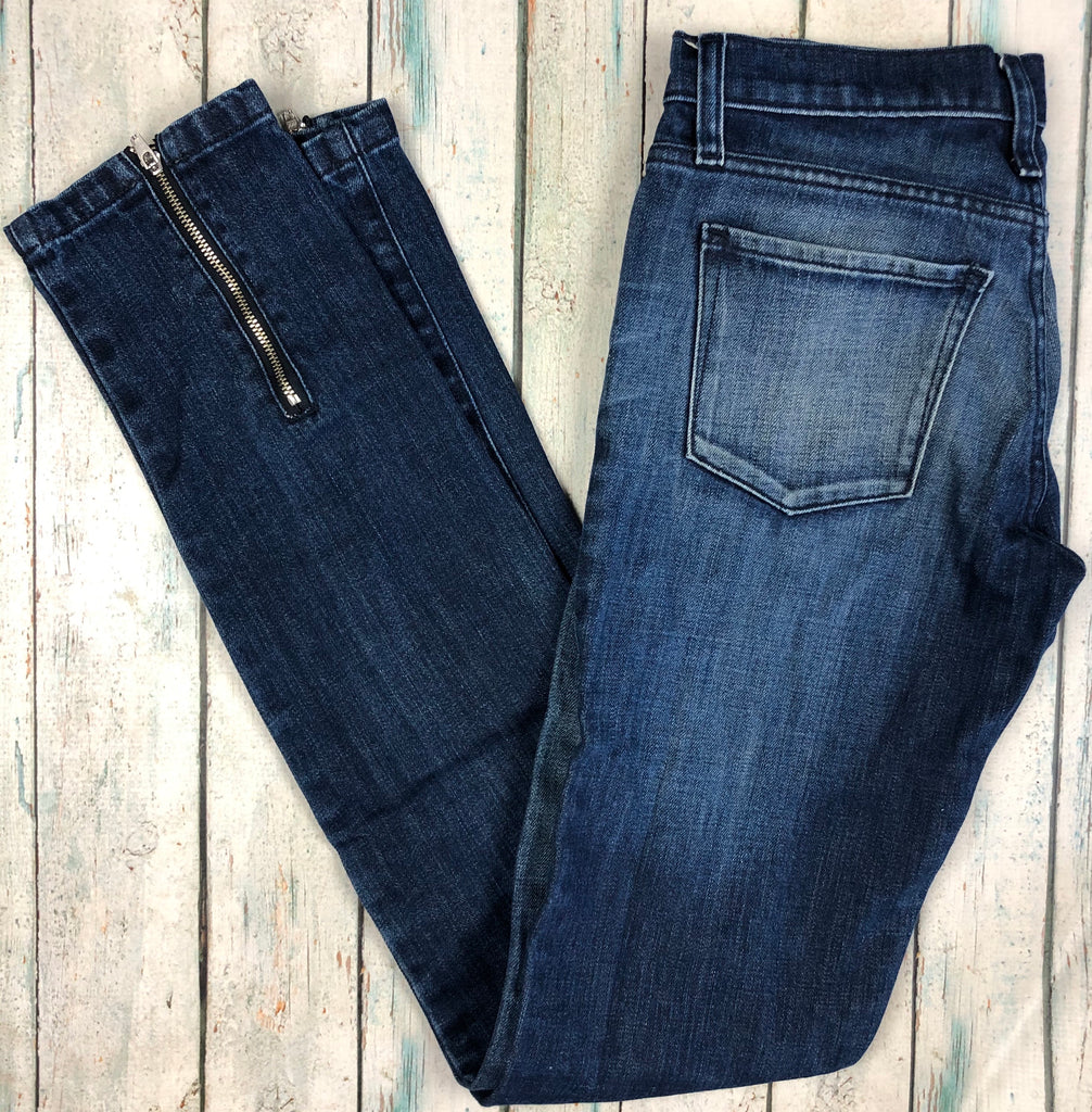 NOBODY Skinny Ankle Zip Tapered Leg Jeans- Size 26-Jean Pool