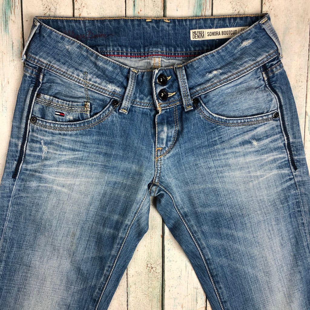 Tommy Hilfiger Distressed 'Sonora Bootcut' Jeans - Size 27/32