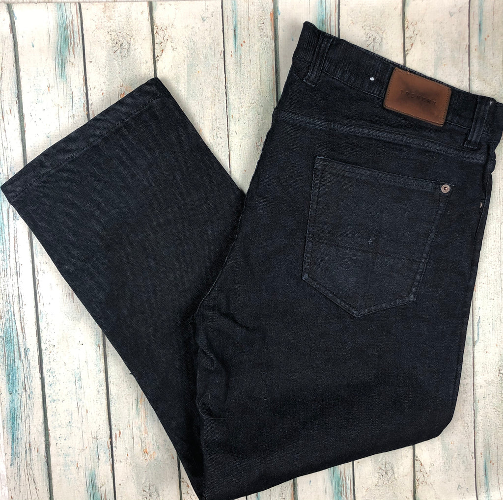 Trenery Dark Wash Mens Denim Jeans - Size 40 Short