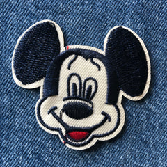 Happy Mickey - Embroidered Cloth Patch