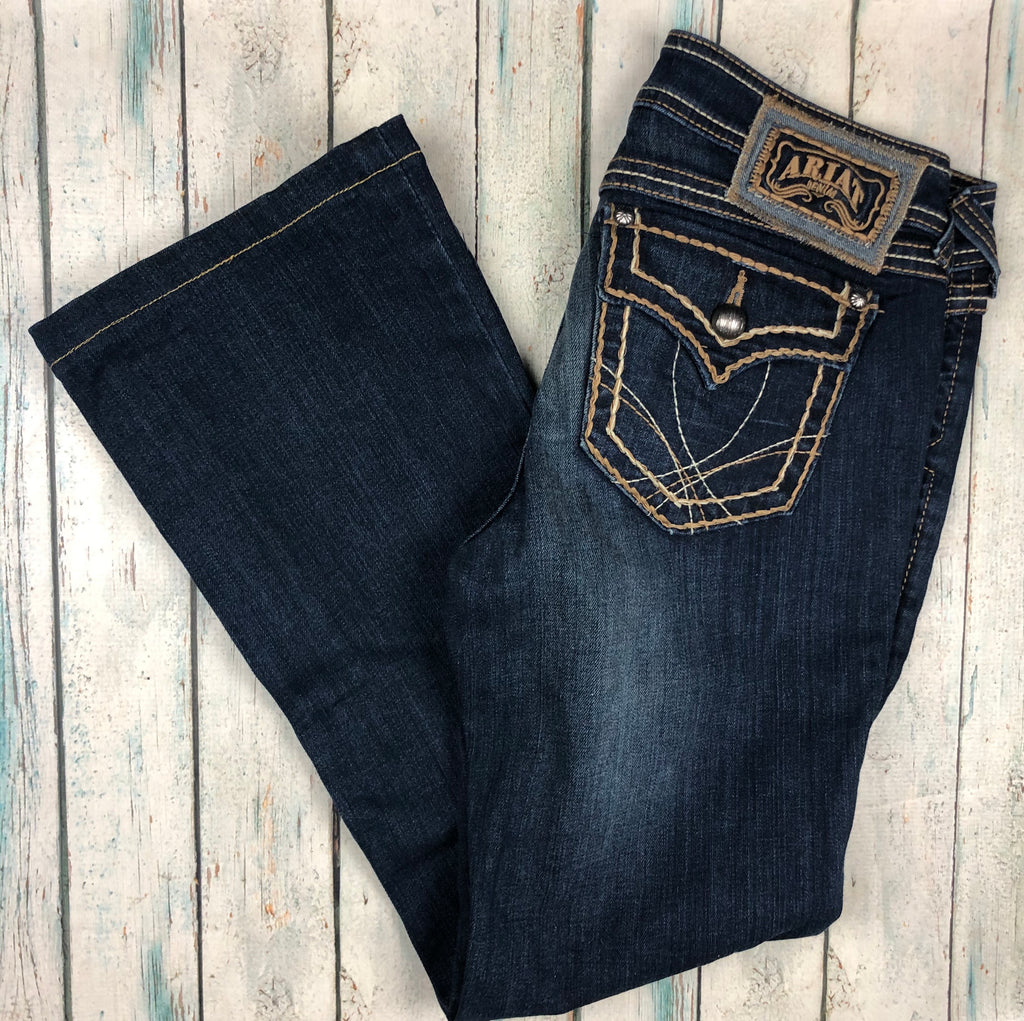 Ariat Ladies 'Ruby' Straight Leg Stretch Jeans- Size 29 Short-Jean Pool