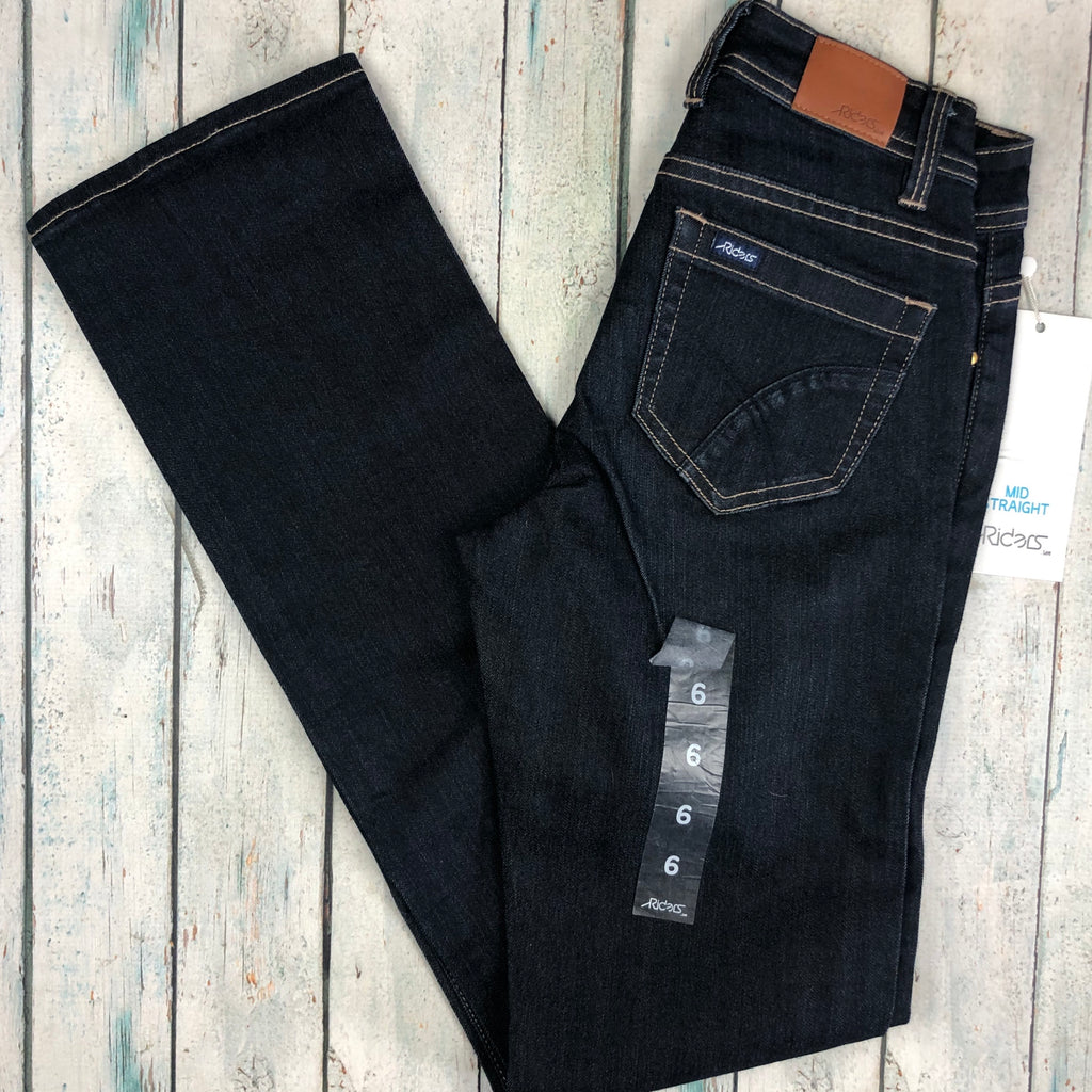 NWT - Lee Mid Straight Riders Stretch Denim Jeans- Size 6