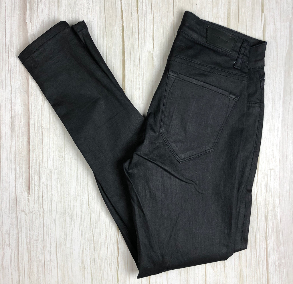 SABA Black Coated 'Jegging'  Skinny Jeans- Size 24