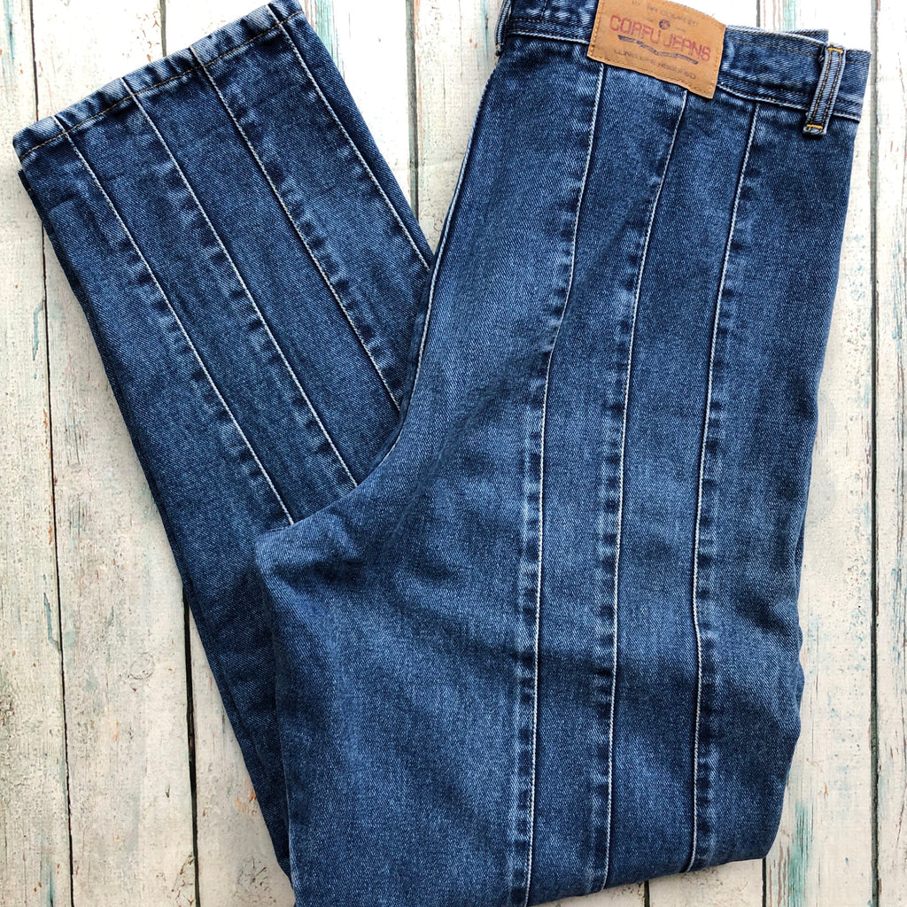 Vintage Corfu Pintucked Jeans 1980's- Size 18