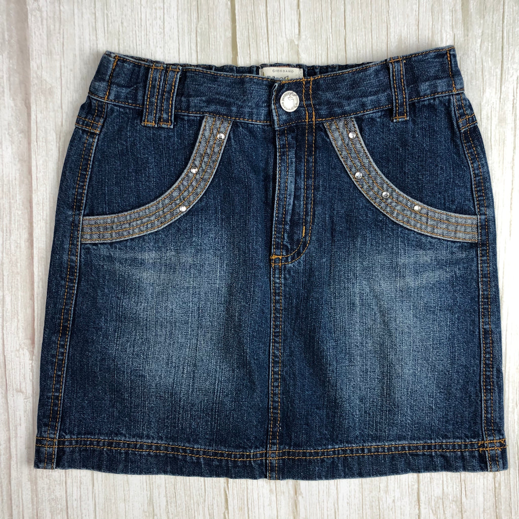 Giordano Junior Girls Denim Mini Skirt- Size 8/10-Jean Pool