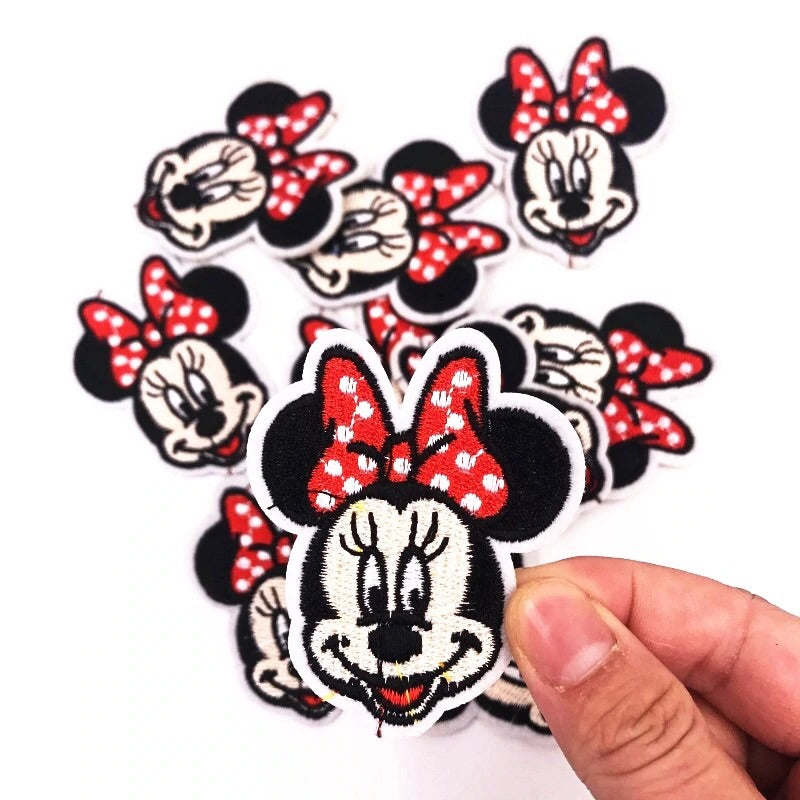 Minnie with Bow- Embroidered Cloth Patch