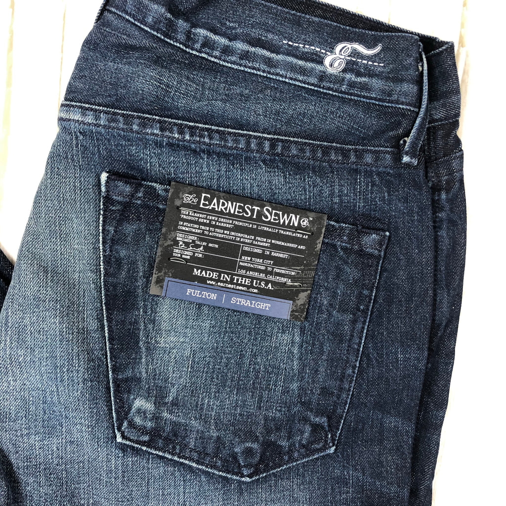 "NWT- Earnest Sewn ""Fulton.516"" Mens Classic Straight Jeans - Size 30"