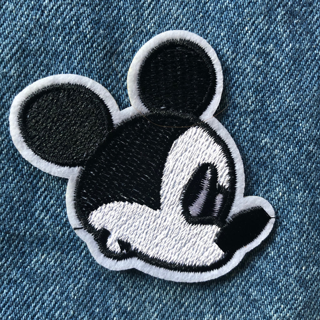 Profile Mickey  - Embroidered Cloth Patch