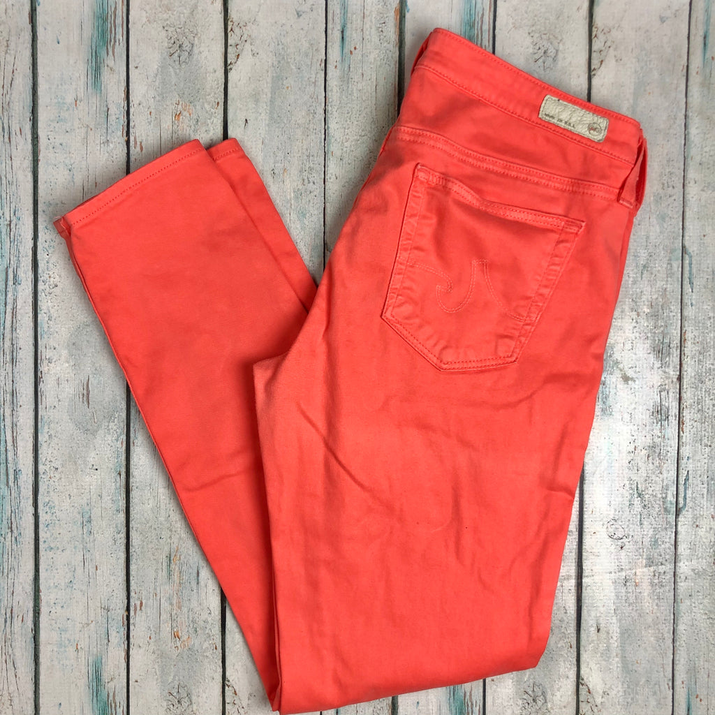 Adriano Goldschmied Orange 'the Legging Ankle' Supper Skinny Jeans- Size 30-Jean Pool