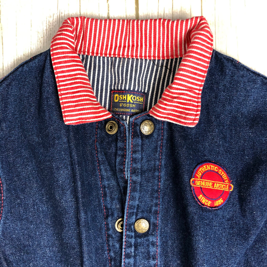 80's Vintage Children's Osh Kosh Denim Jacket- Size 6/8