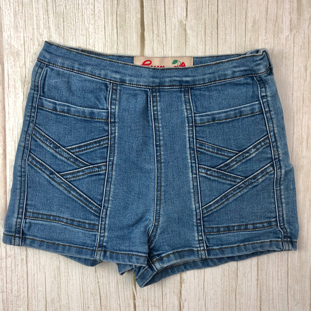 Girls Gum by Gumboots High Waist Denim Shorts - Size 12 Years-Jean Pool