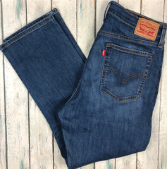 Ladies Levis 'Wedgie Straight' Stretch Denim Jeans - Size 32-Levis-Jean Pool