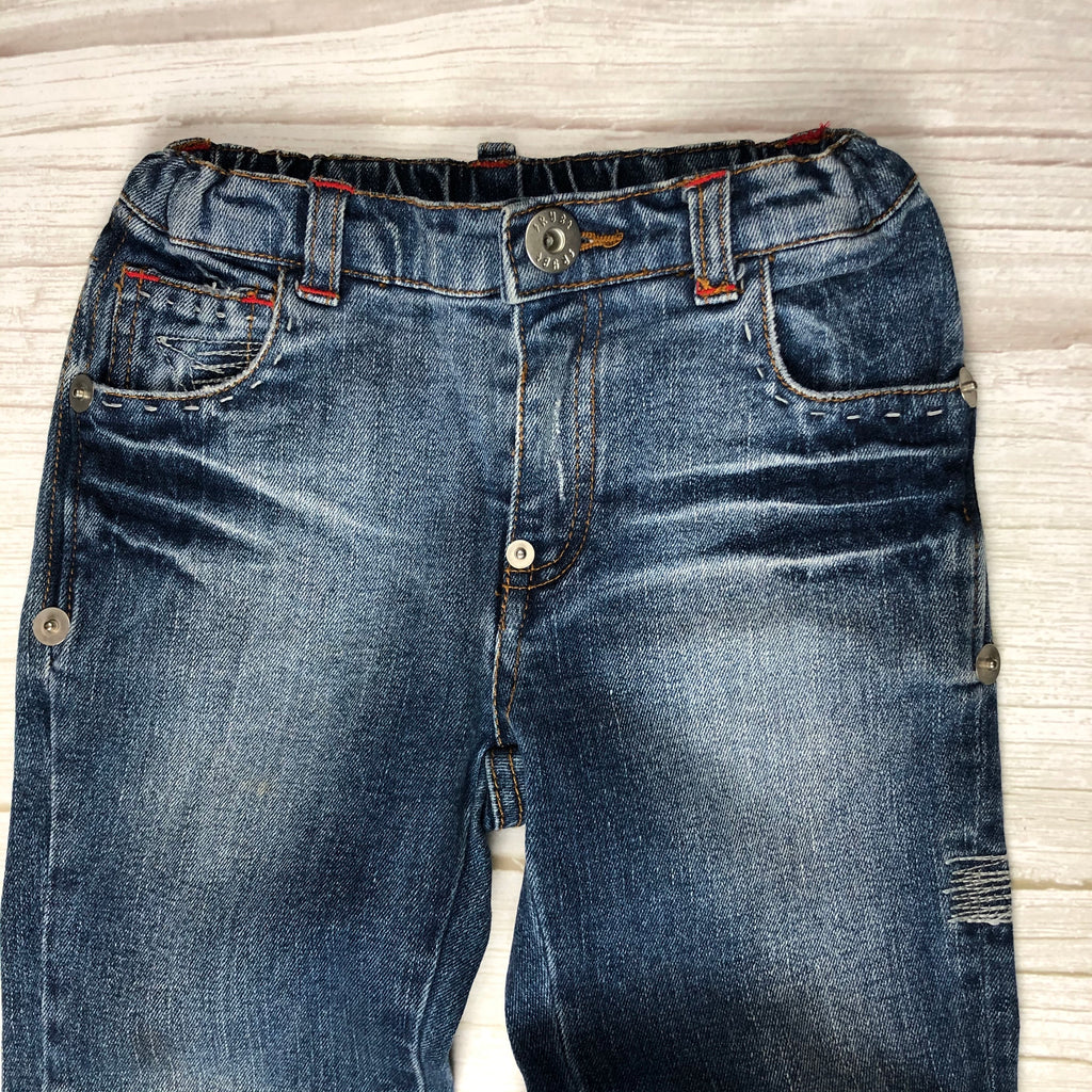 Rock your Baby Tattoo Print Distressed Denim Jeans- Size 4-Rock your Baby-Jean Pool