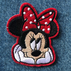 Thinking Minnie - Embroidered Cloth Patch