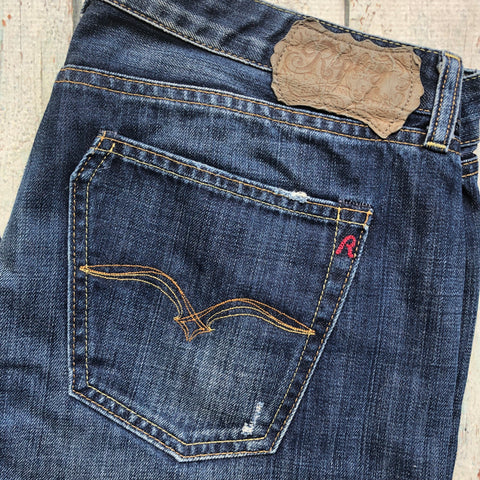 Replay IOKO Distressed Denim Jeans- Size 31/34