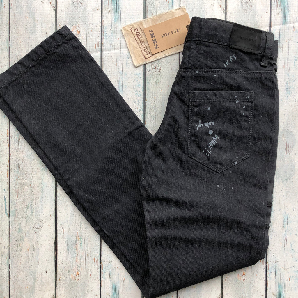 IKKS Coated Black Skinny Jeans- Size 10
