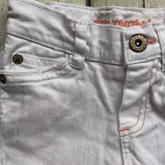 Ted Baker White Girls Denim  Turn up Jeans - Size 12/18M