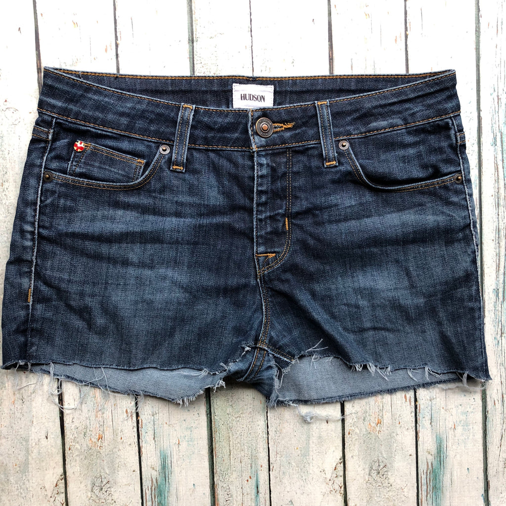 Hudson Upcycled Denim cut off Shorts - Size 28