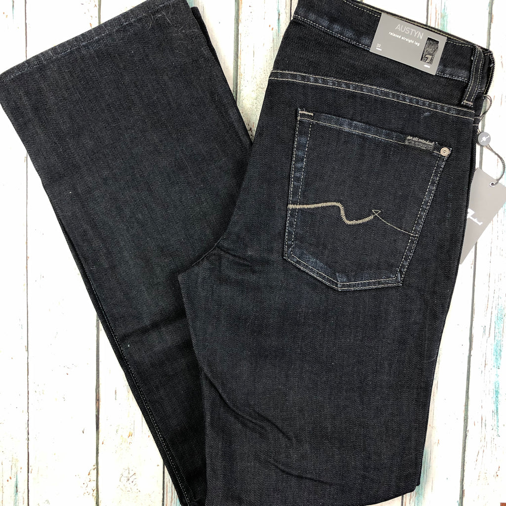 NWT - 7 for all Mankind - Mens 'Austyn' Relaxed Straight Leg Jeans - Size 32