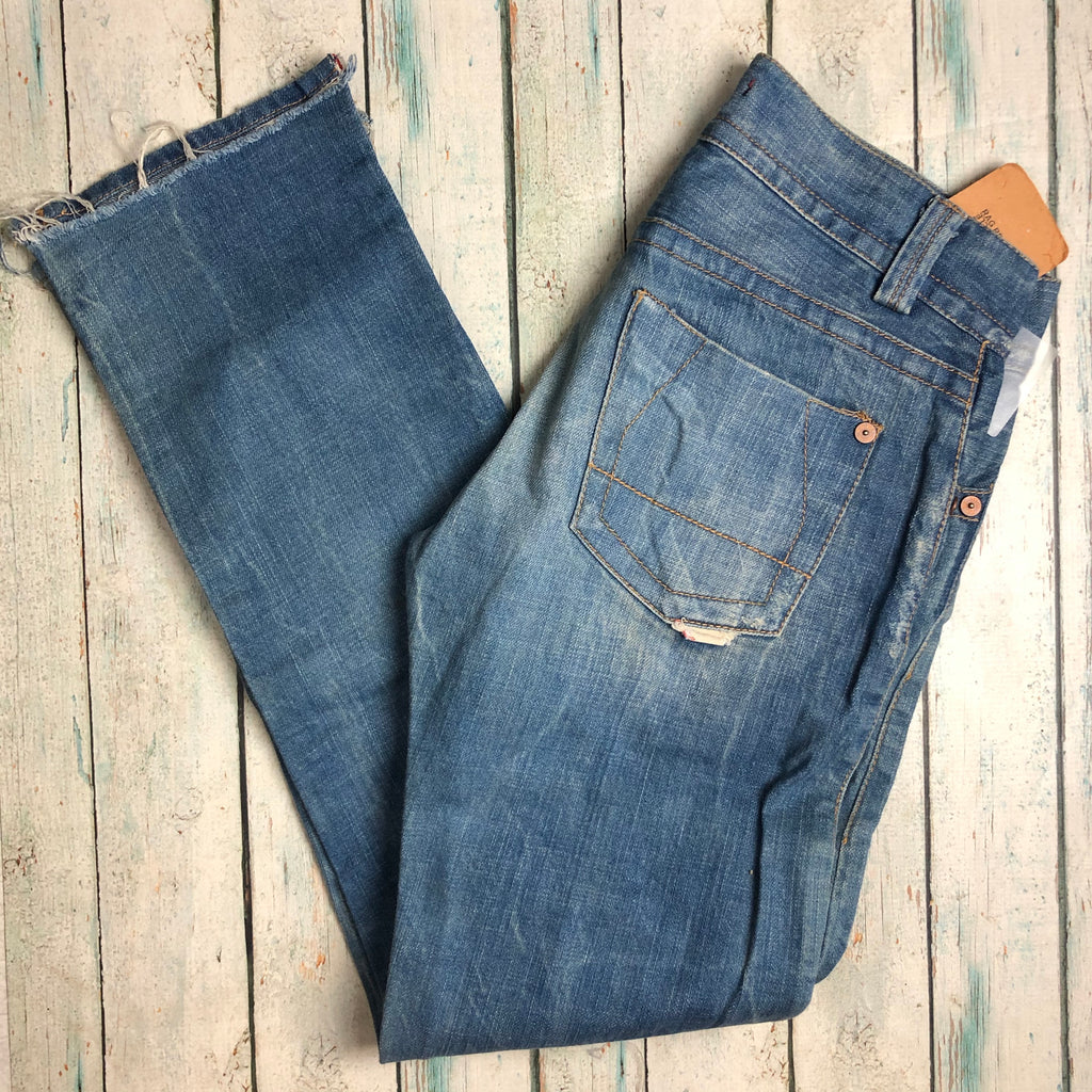 NWT- RA-RE Rag Recycle - Italian Patch Boyfriend Jeans -Size 28-RA-RE-Jean Pool