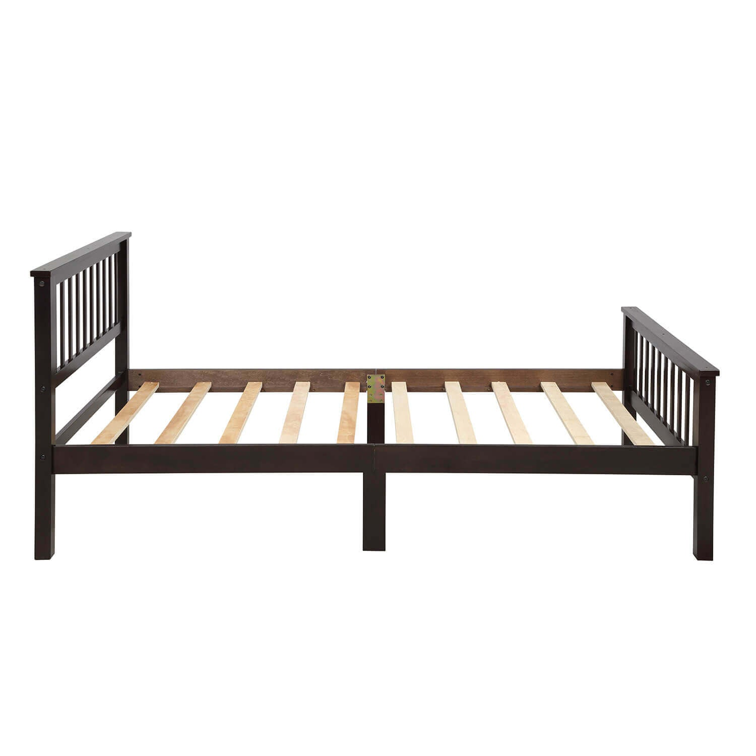 Wood Bed Frame Twin Size 300lb Heavy Duty Platform Bed With Slatted H Mrjaws