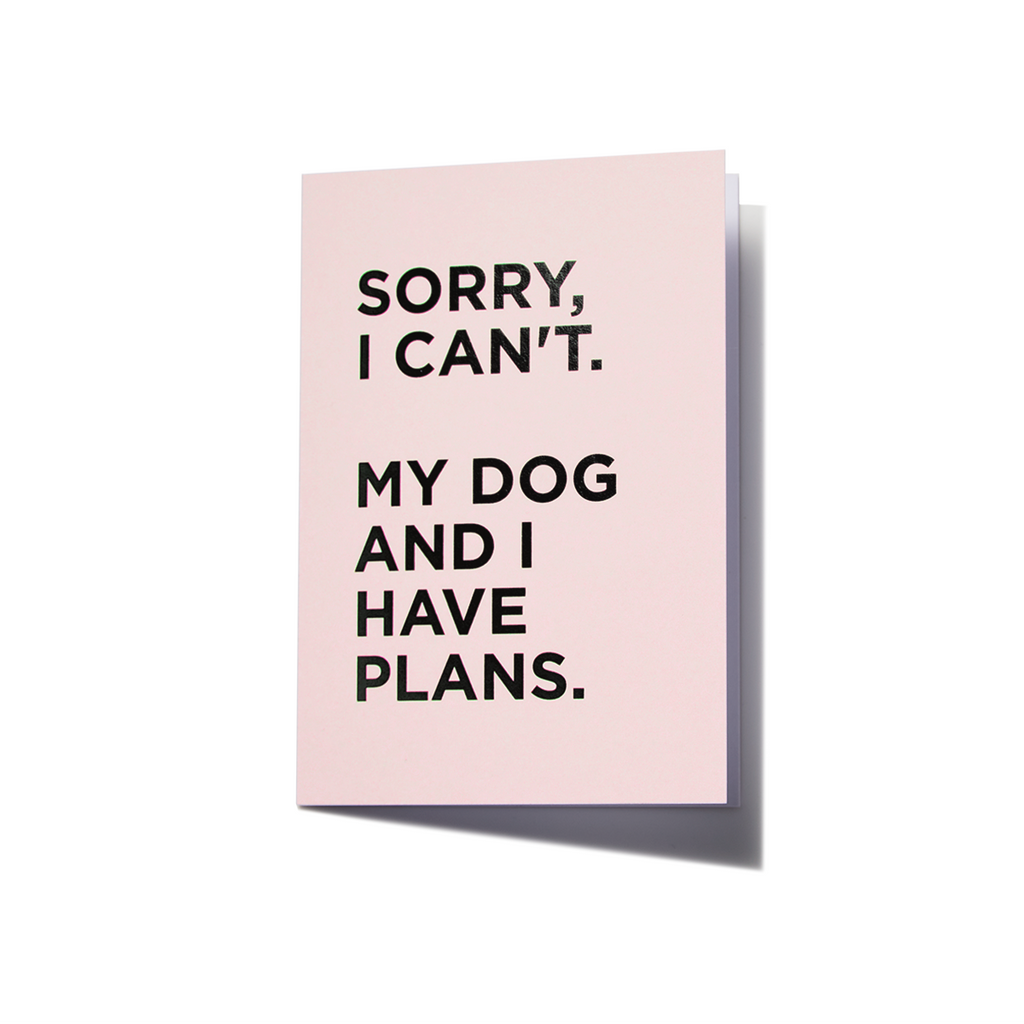 Greeting Card | Sorry I Can't