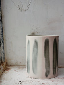 blush pink and grey porcelain vase
