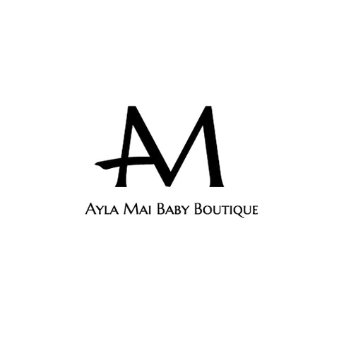 Logo with an M and A and Ayla Mai Baby Boutique written underneath