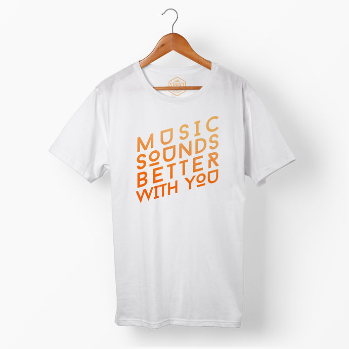 Mens Orange Better With You T
