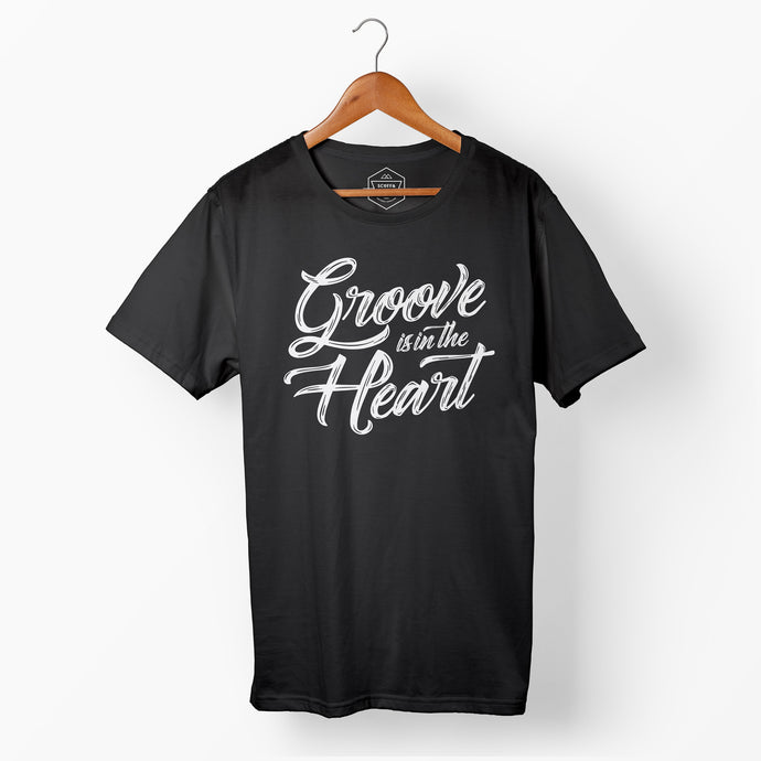 Mens Groove is in the Heart Black T