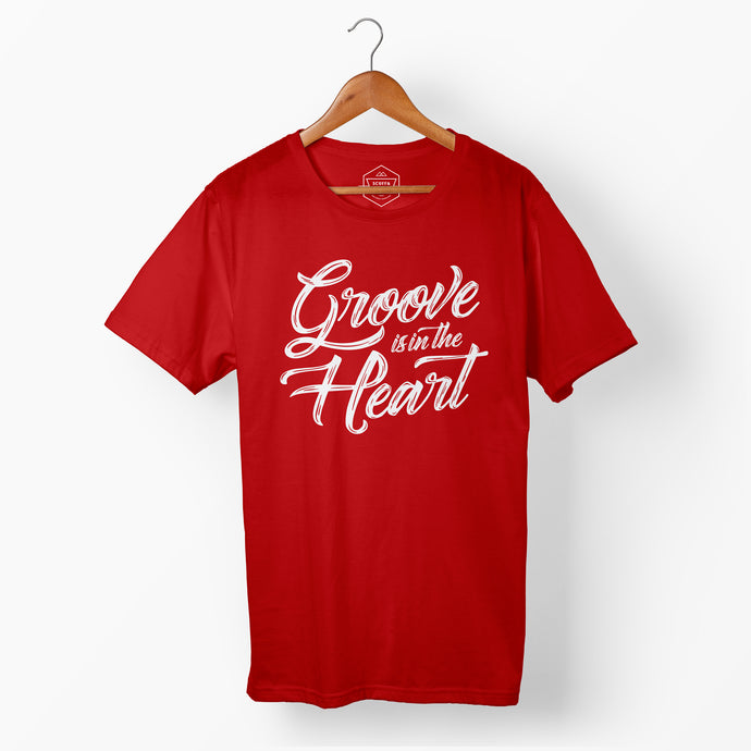 Men's Groove Is In The Heart T Red