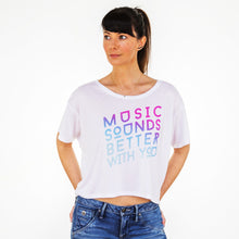 Womens Better With You Fluro Pink Boxy Tee
