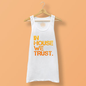 Mens Orange In House We Trust Vest