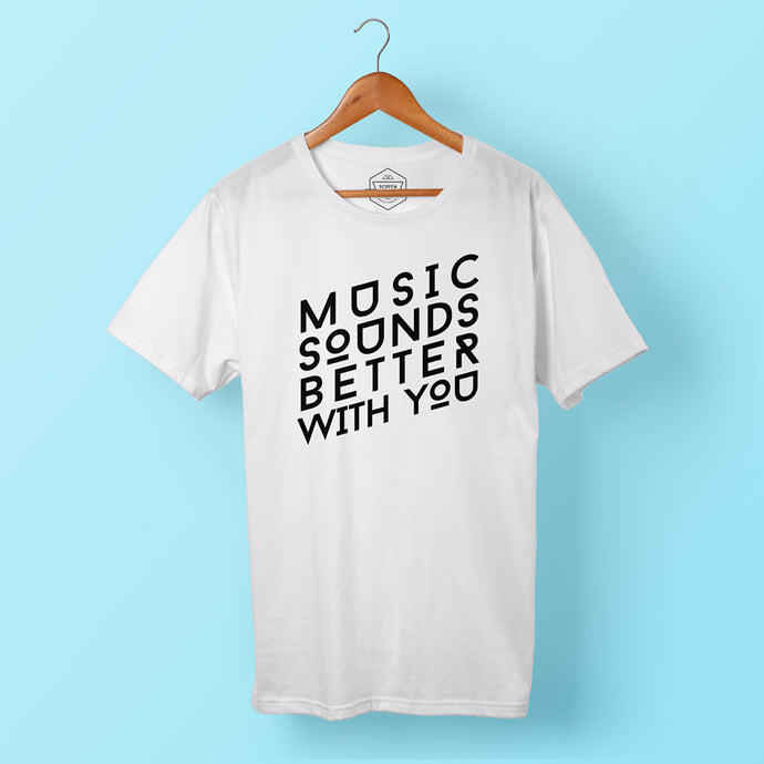 Mens Better With You T White