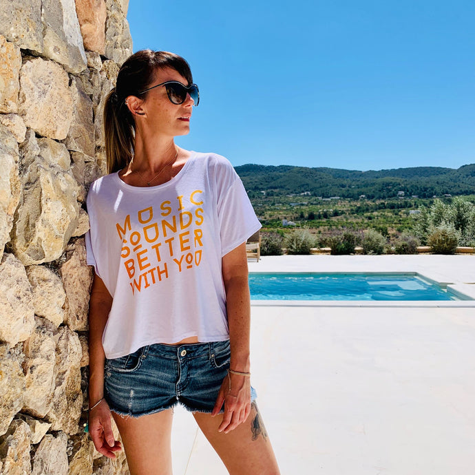 Womens Orange Better With You Boxy Tee
