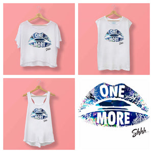 Womens Shhh One More Boxy Tee White