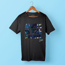 Shhh Music Is The Answer Black Tee