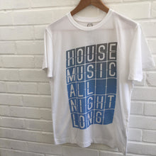 SR House Music All Night Long Tee - White / Small