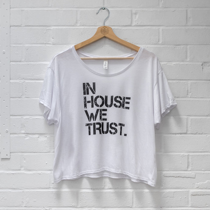 Womens In House Boxy Tee White